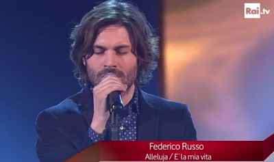Federico Russo si presta per una Blind Audition con i giudici di The Voice of Italy