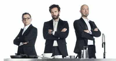 I tre giudici di Masterchef Italia 4, Carlo Cracco, Joe Bastianich e Bruno Barbieri